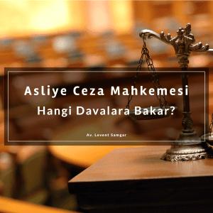 Asliye Ceza Mahkemesi Nedir