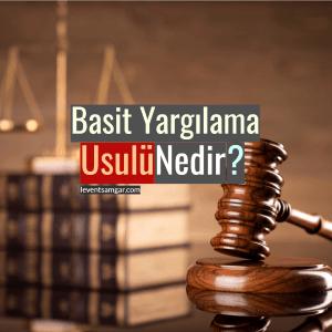 Basit Yargılama Usulü Nedir